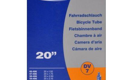 Schwalbe slange 20 x 1,50-2,50 med almindelig ventil DV7