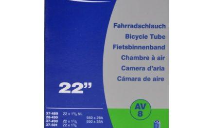 Schwalbe slange 22 x 1. 3/8 med Auto ventil AV8