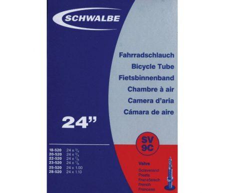 Schwalbe slange 24 x 0,75-1,10 med Racer ventil SV9C