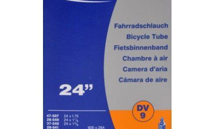 Schwalbe slange 24 x 1. 1/8-1,75 med almindelig ventil DV9