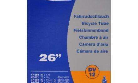 Schwalbe slange 26 x 1. 3/8 med almindelig ventil DV12