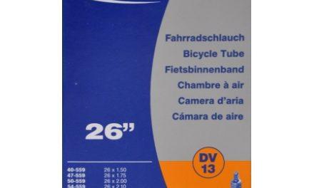 Schwalbe slange 26 x 1,50-2,50 med almindelig ventil DV13