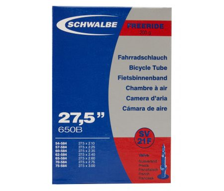 Schwalbe slange 27,5×2,10/3,00 med Racer ventil SV21F