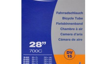 Schwalbe slange 700 x 18-28c med almindelig ventil DV15