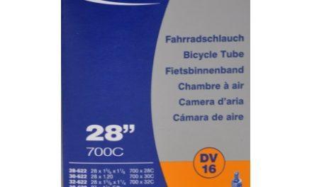 Schwalbe slange 700 x 27-32c med almindelig ventil DV16