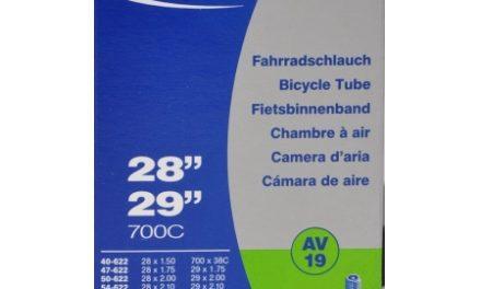 "Schwalbe slange 700 x 40-62c 27/29"" med Auto ventil AV19"