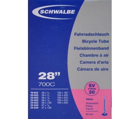 Schwalbe slange 700×18-25c X-Light med 80mm Racer ventil SV20