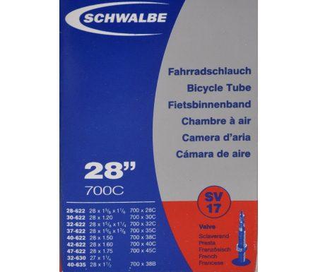 Schwalbe slange 700×28-45c med Racer ventil SV17