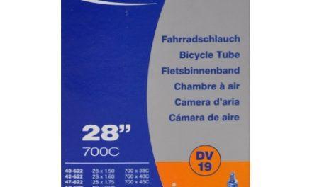 """Schwalbe slange 700×38-62c & 27/29""""med almindelig ventil DV19"""