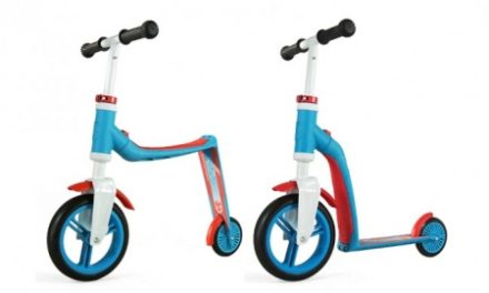 Scoot & Ride Highwaybaby+ – Løbehjul-/balancecykel 2i1 – Blå/Rød