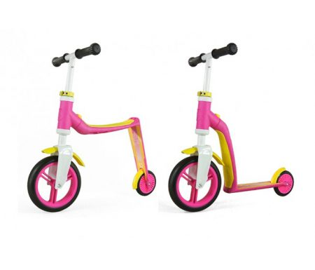 Scoot&Ride 2 i 1 løbehjul/løbecykel – Highwaybaby – Pink/Gul