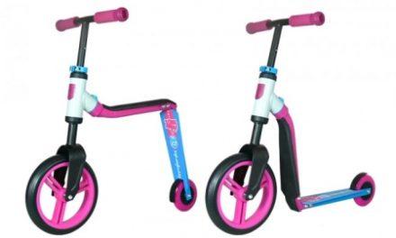 Scoot&Ride 2 i 1 løbehjul/løbecykel – Highwaybuddy – Pink/Blå