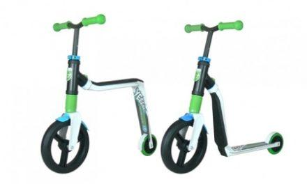 Scoot&Ride 2 i 1 løbehjul og løbecykel – Highway Freak – Hvid/Grøn/Blå