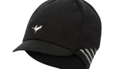 Sealskinz Belgian Style Cap – Vintercykelkasket – Sort/hvid