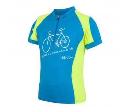 Sensor Cyklo Entry – Cykeltrøje med korte ærmer til børn – Blå/grøn