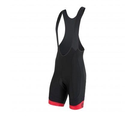 Sensor Cyklo Race – Bib shorts med pude – Sort/rød