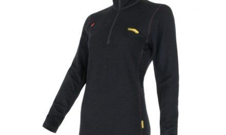 Sensor Merino Fleece Sweatshirt – Dame – Lynlås i halv længde – Sort
