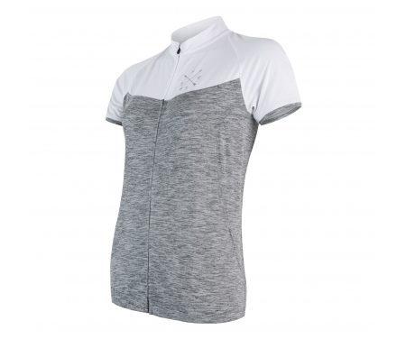 Sensor Motion FZ Jersey – Dame Cykeltrøje med korte ærmer – Grå/Hvid