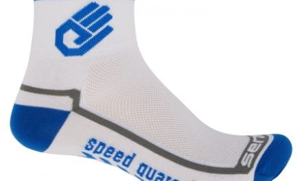Sensor Race lite – Cykelstrømper – Hvid/blå