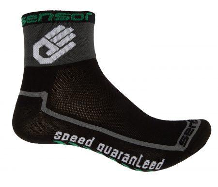Sensor Race lite – Cykelstrømper – Sort/grå