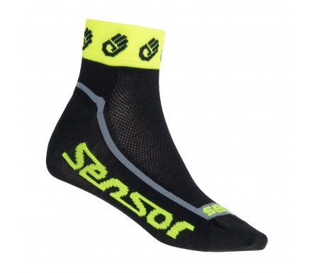 Sensor Race Lite – Cykelstrømper – Sort/gul
