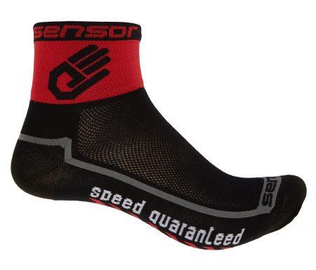 Sensor Race lite – Cykelstrømper – Sort/rød