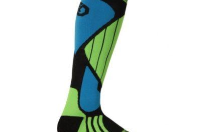 Sensor Snow Pro – Skistrømper – Sort/grøn/blå
