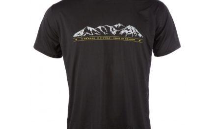 Sensor T-shirt Mountains – korte ærmer – PT Coolmax Fresh – Sort
