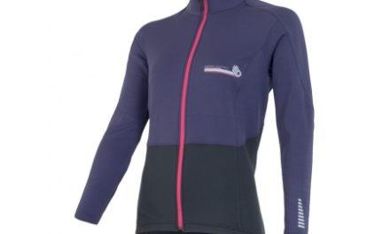 Sensor Technostretch jersey – Vinter cykeltrøje – Dame – Sort/lilla