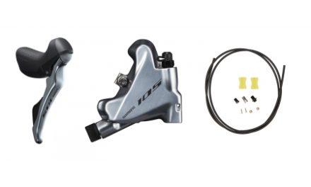Shimano 105 STI og hydraulisk bremsegreb højre sølv – ST-R7020R og BR-R7070R