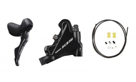 Shimano 105 STI og hydraulisk bremsegreb højre sort – ST-R7020R og BR-R7070R