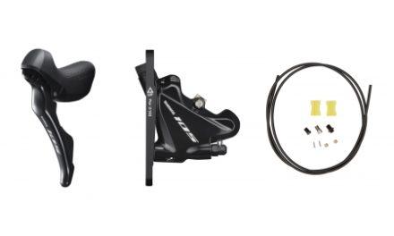 Shimano 105 STI og hydraulisk bremsegreb small venstre sort – ST-R7025L og BR-R7070F