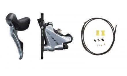 Shimano 105 STI og hydraulisk bremsegreb venstre sølv – ST-R7020L og BR-R7070F
