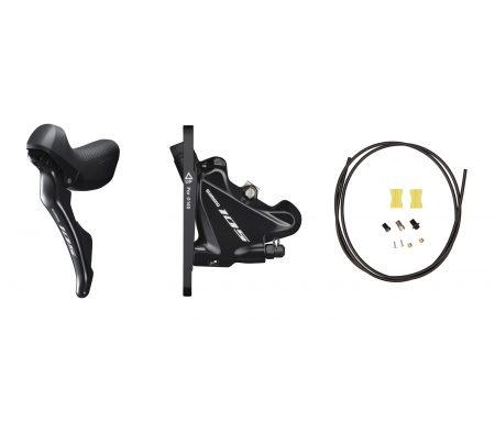 Shimano 105 STI og hydraulisk bremsegreb venstre sort – ST-R7020L og BR-R7070F