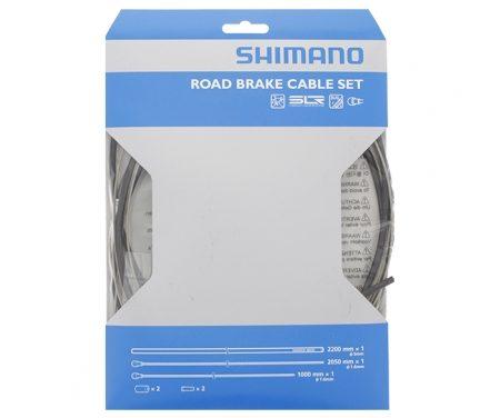 Shimano Bremsekabelsæt – Road Rustfri – For-og bagbremsekabel komplet – Sort