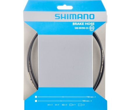Shimano Bremseslange model SM-BH90-SS 1000mm Sort