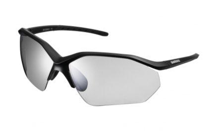 Shimano Cykelbriller – Equinox3 – Fotokromiske mørkgrå linse – Matsort