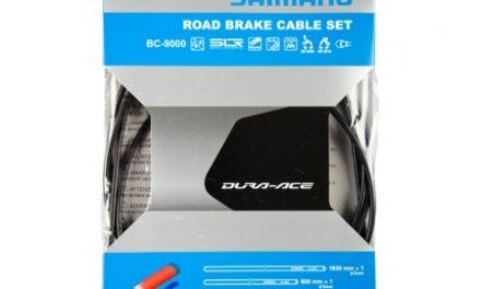 Shimano Dura Ace Bremsekabelsæt – Road Polymer – For-og bagbremsekabel komplet – Sort