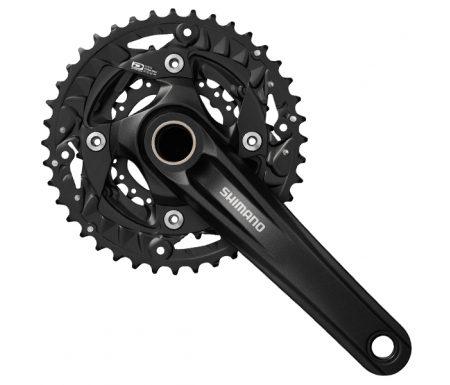 Shimano – Kranksæt FC-MT500 – 3×10 gear 40-30-22  tands – 175 mm pedalarme