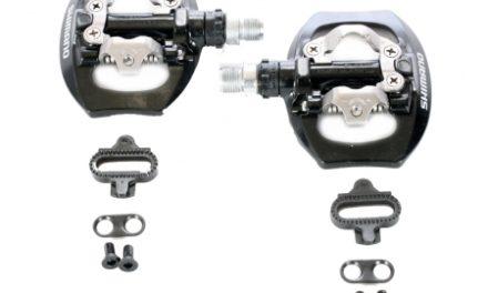 Shimano pedaler SPD PD-A530 Combi Sort – Inklusiv klamper