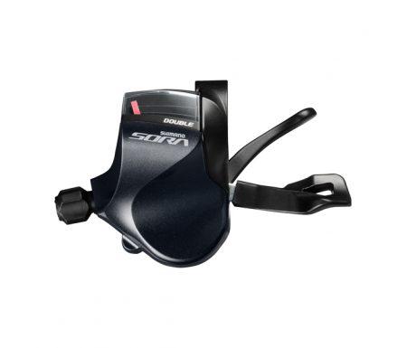 Shimano Sora SL-R3030 – Skiftegreb Flatbar venstre 9 gear – Trible Sort
