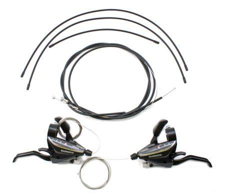 Shimano – STI grebsæt ST-EF65 – 3×7 Speed – MTB – Sort