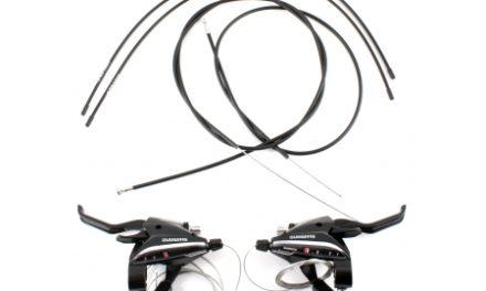 Shimano – STI grebsæt ST-EF65 – 3×8 Speed – MTB – Sort