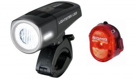 Sigma Lightster/Nugget II – Cykellygtesæt  – USB opladelig