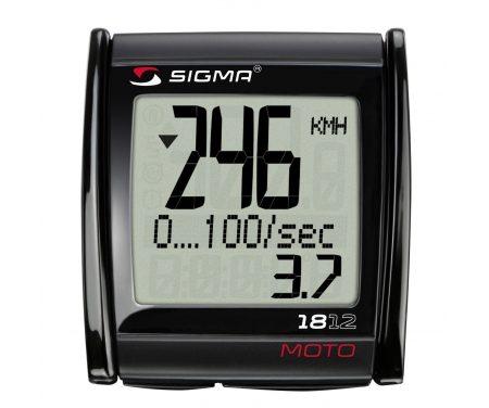 Sigma MC 18.12 – Motorcykelcomputer med ledning – 18 funktioner – Måler op til 399 Km/t.