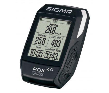 Sigma ROX 7.0 – Cykelcomputer med GPS – Sort – Strava kompatibel