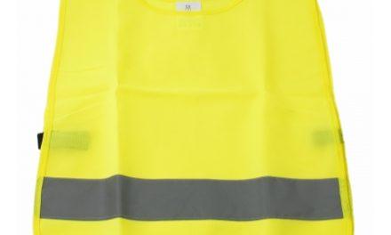 Sikkerhedsvest Point gul med refleks til børn 2-6 år