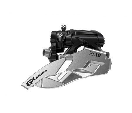 Sram GX – Forskifter – Low clamp –  2 x 10 gear – Sort