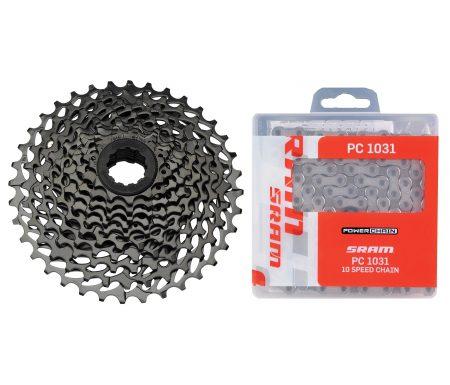 Sram sampak 10 gear – 11-36T – MTB PG-1020 kassette og PC1031 Kæde
