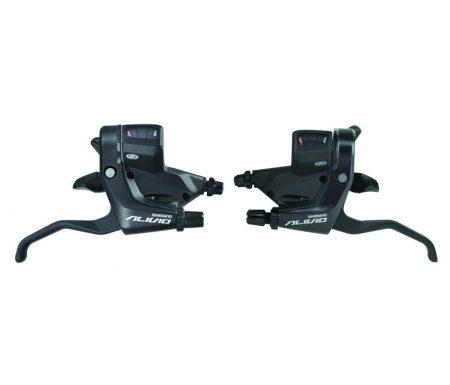 STI skifte og bremsegreb sæt Shimano Alivio 3×9 gear Sort